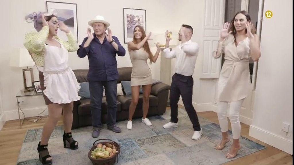 Amador Mohedano, Irene Rosales, Fani Carbajo y Miguel Frigenti, en 'Ven a cenar conmigo: Gourmet Edition'