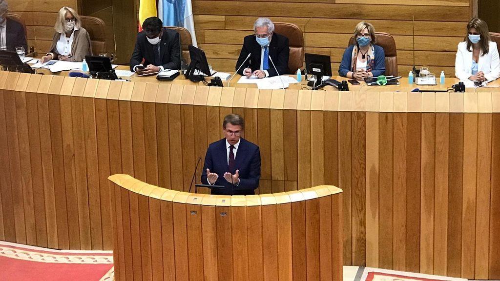 NO PUBLICAR. Alberto Núñez Feijóo, investido presidente de la Xunta de Galicia por cuarta vez