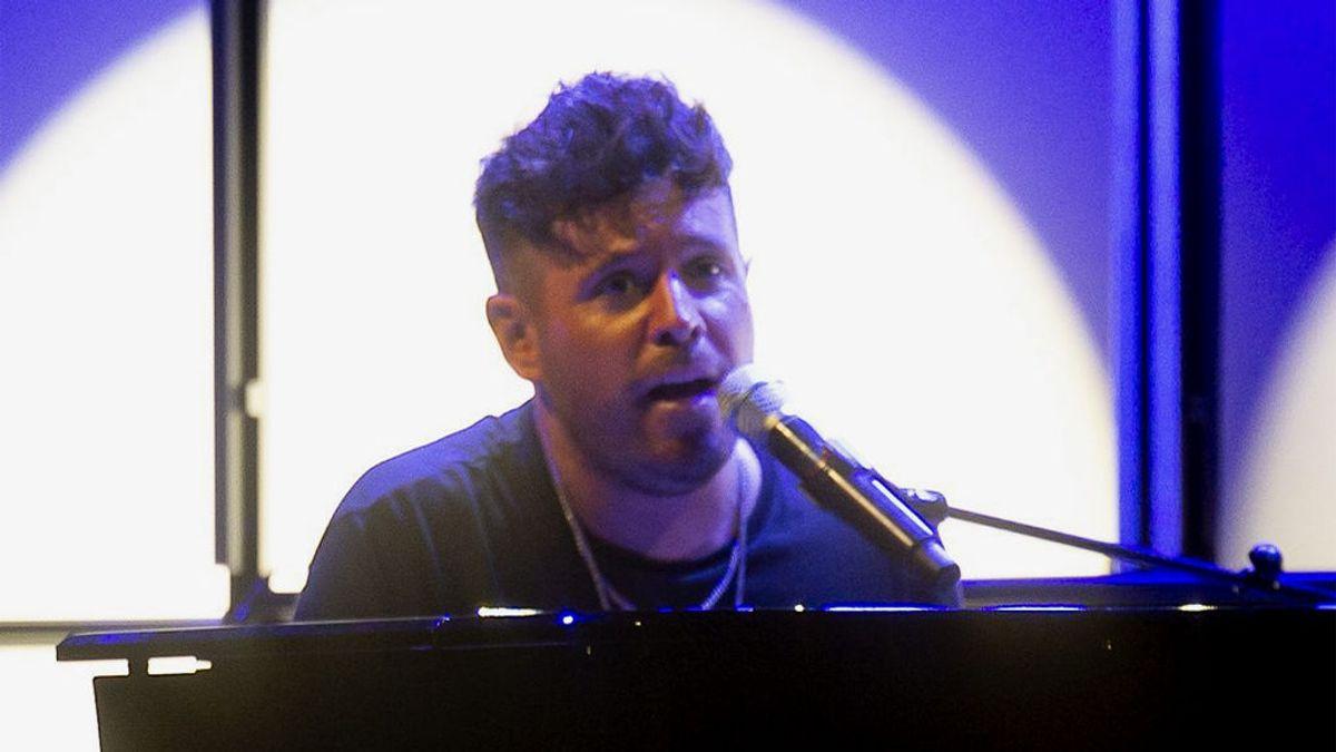 Pablo López, en un concierto en Valencia (2020)