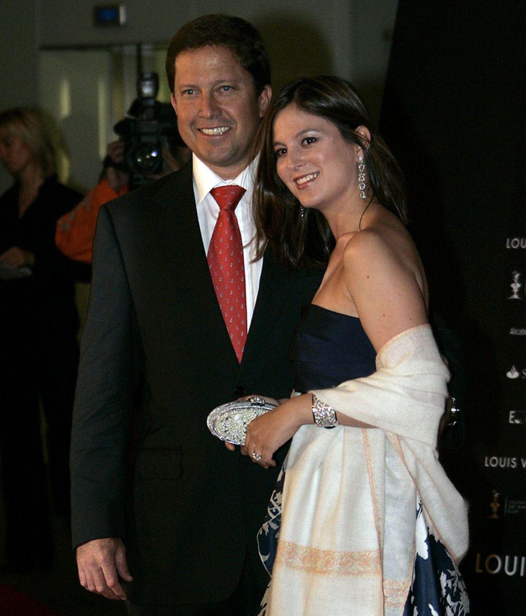 Chábeli Iglesias con su marido, Christian Altaba