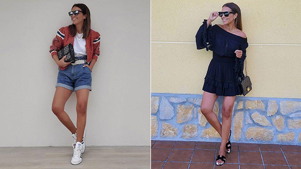 Paula Echevarría con bolsos de Dior y Fendi