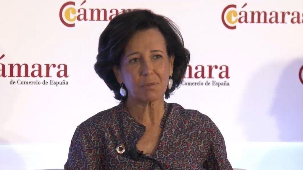 """Ana Botín:  """"Es difícil no estar de acuerdo con lo que dijo Pedro Sánchez"""""""