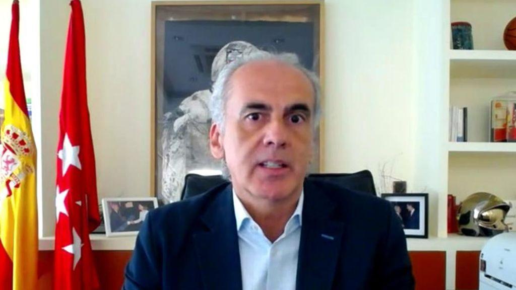 """El Consejero de Sanidad de Madrid responde a García Paje: """"Tratar de buscar culpables a la pandemia es un argumento de pobreza absoluta"""""""