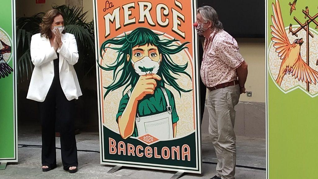 El coronavirus y una plaga de langostas en 1687 en Barcelona, unidos en el cartel de La Mercè 2020
