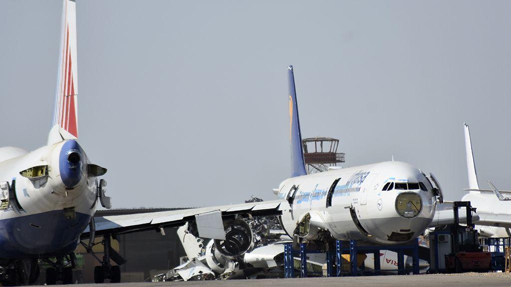Aviones en el desguace
