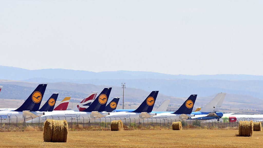 Contrastes en el Aeropuerto de Teruel