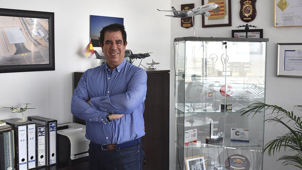 Alejandro Ibrahim Perera, director del Aeropuerto de Teruel