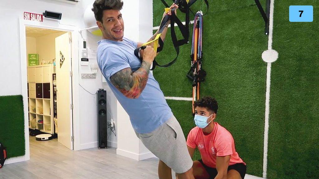 Diego Matamoros enseña su rutina de ejercicios y la dieta que sigue para tener cuerpazo (2/2)