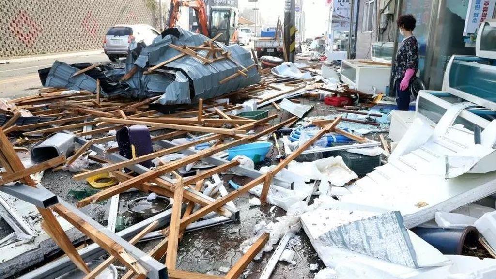 Inundaciones y destrozos por el tifón Maysak: así ha quedado Corea del Sur