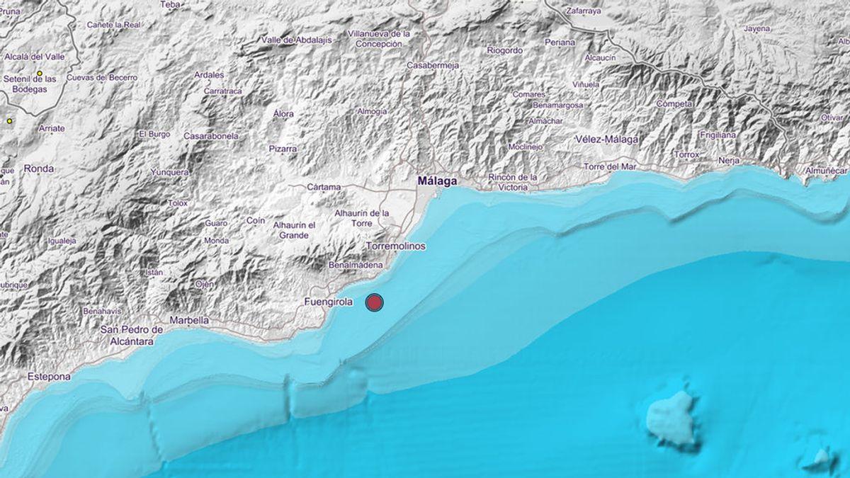 Registrado un terremoto de magnitud 4,1 en la escala Richter con epicentro en Benalmádena, Málaga