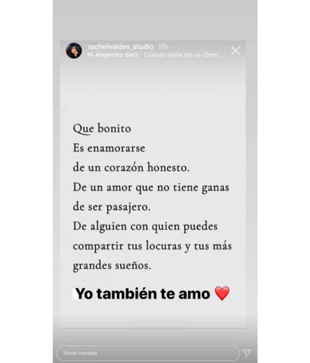 El texto de Rachel Valdés a Alejandro Sanz tras haber firmado su divorcio con su ex