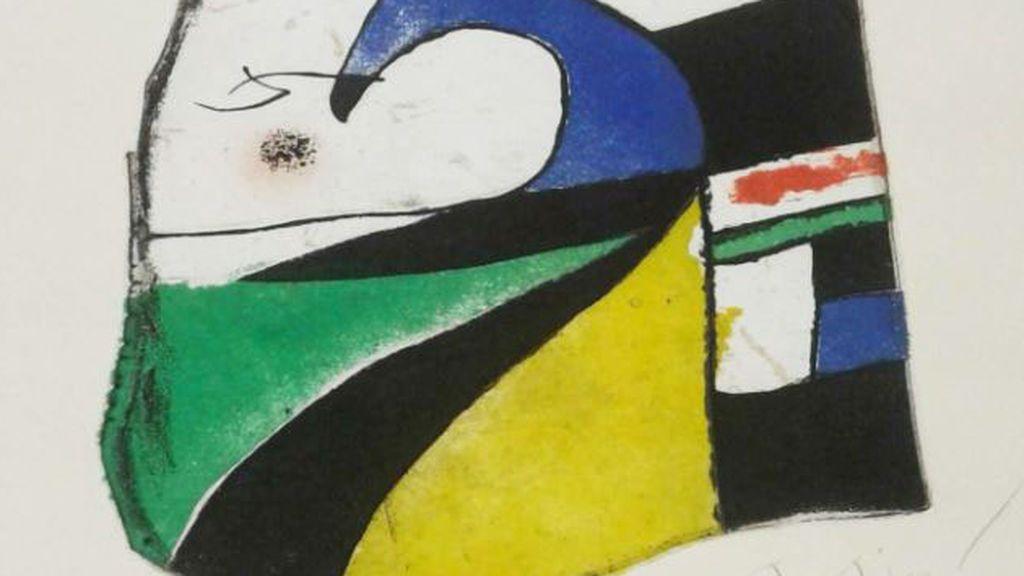La Policía Nacional localiza una obra desaparecida de Joan Miró cuando iba a ser subastada en Londres