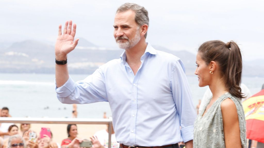 Los reyes, durante su reciente gira por España