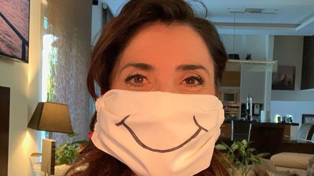 Paz Padilla, haciendo mascarillas en plena crisis sanitaria.