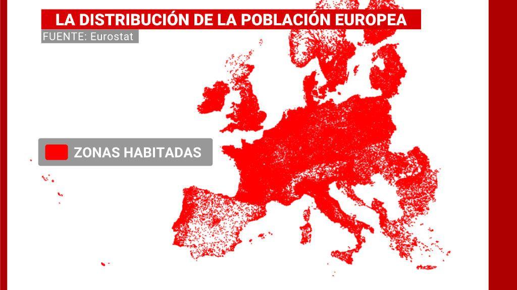Distribución de la población europea