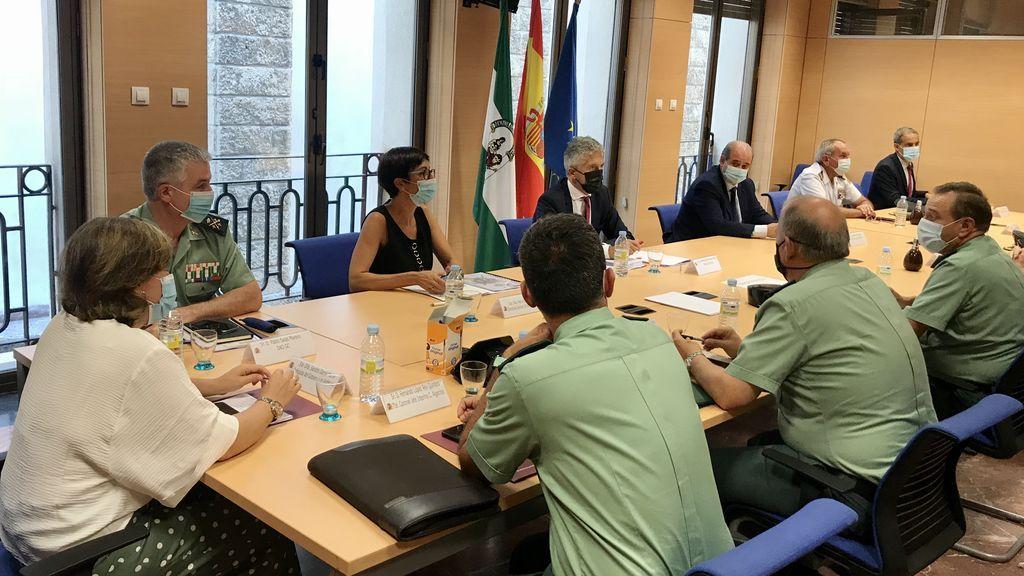 Fernando Grande-Marlaska en su reunión con mandos policiales