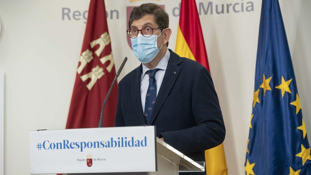 """Villegas, consejero salud Murcia: """"En dos semanas las camas de UCI podrían estar ocupadas todas de Covid"""""""