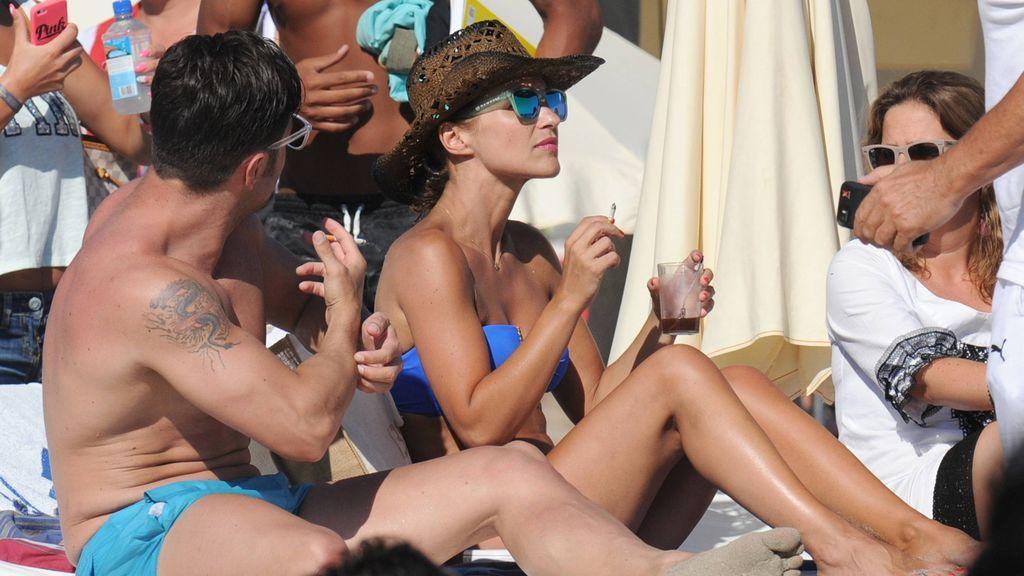 La actriz, junto a David Bustamante en unas vacaciones en Ibiza