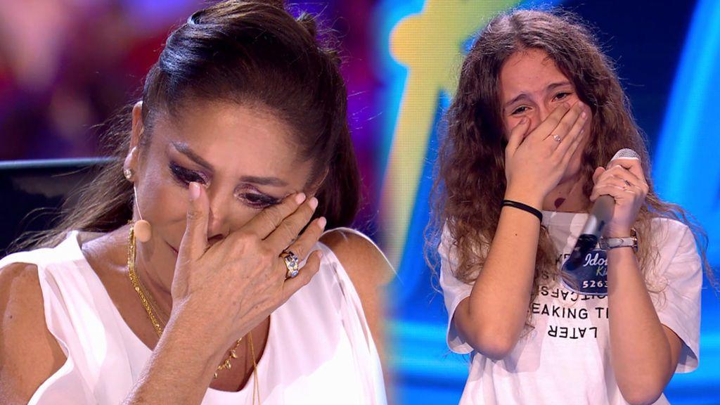 """Isabel Pantoja no puede contener la emoción con la historia y la actuación de Laura: """"Mi madre falleció hace dos años"""""""