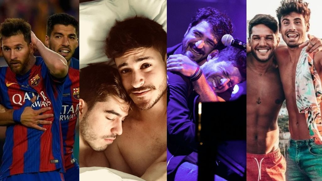 """Luis Suárez y Messi y otros famosos que son """"más que amigos"""""""