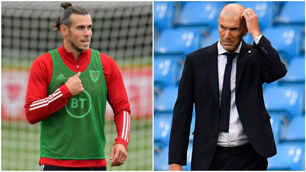 Bale, con Gales, y Zidane, en un partido con el Real Madrid.