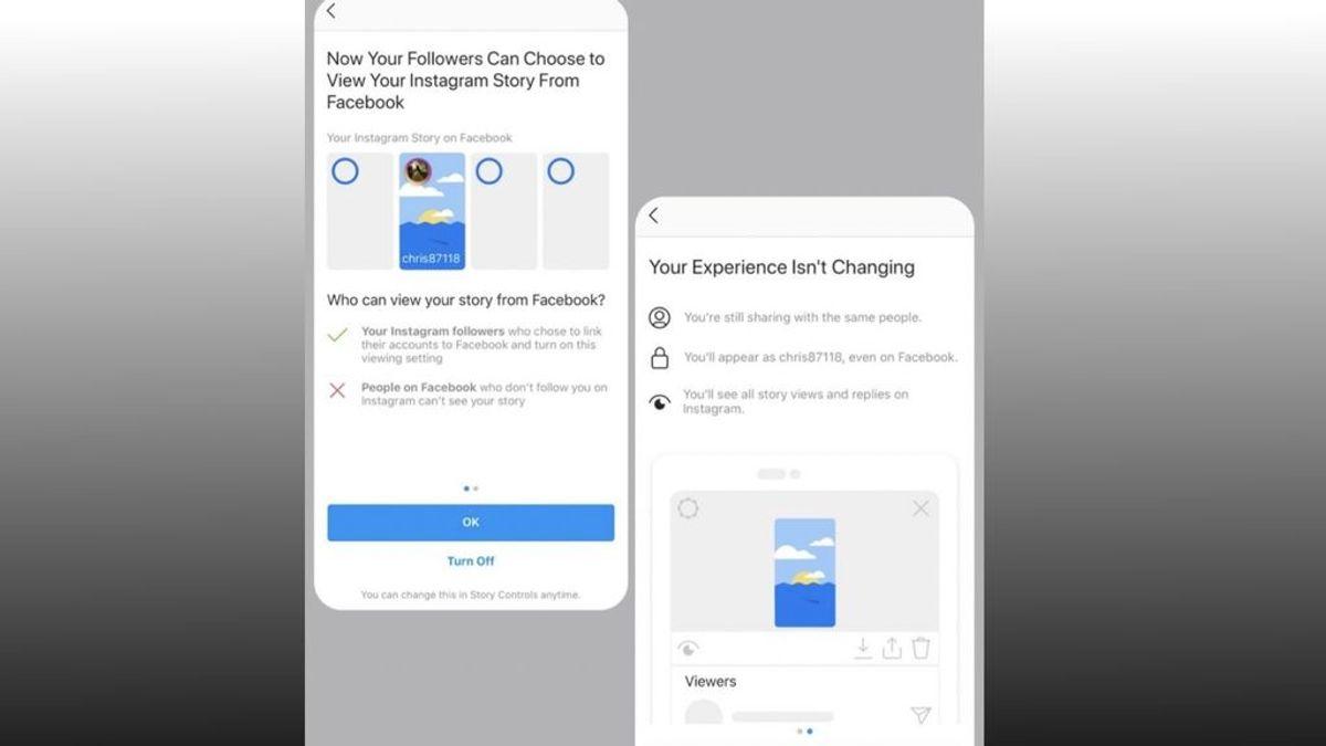 Facebook permite a los usuarios ver historias de Instagram a través de su aplicación en una nueva prueba