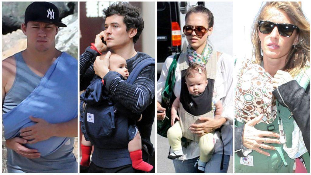 Channing Tatum, Orlando Bloom, Jessica Alba y Gisele Bundchen son algunos de los famosos que han elegido el porteo.