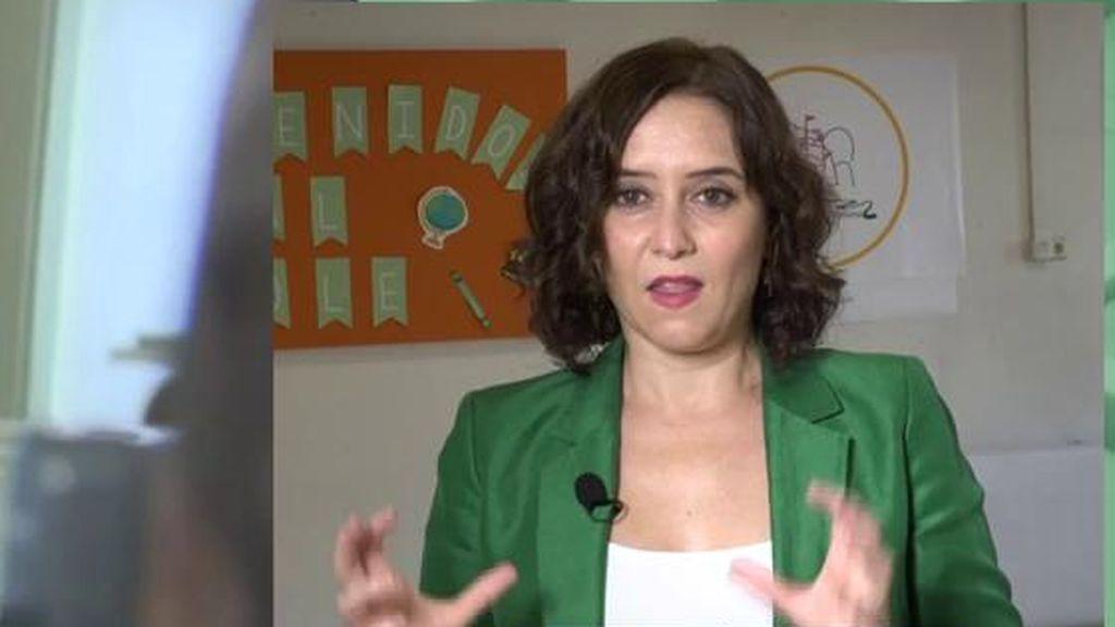 Isabel Díaz Ayuso sobre los profesores
