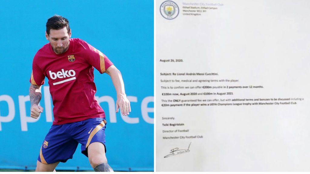 El Barça niega la veracidad de la supuesta oferta del Manchester City por Messi firmada por Txiki Begiristain