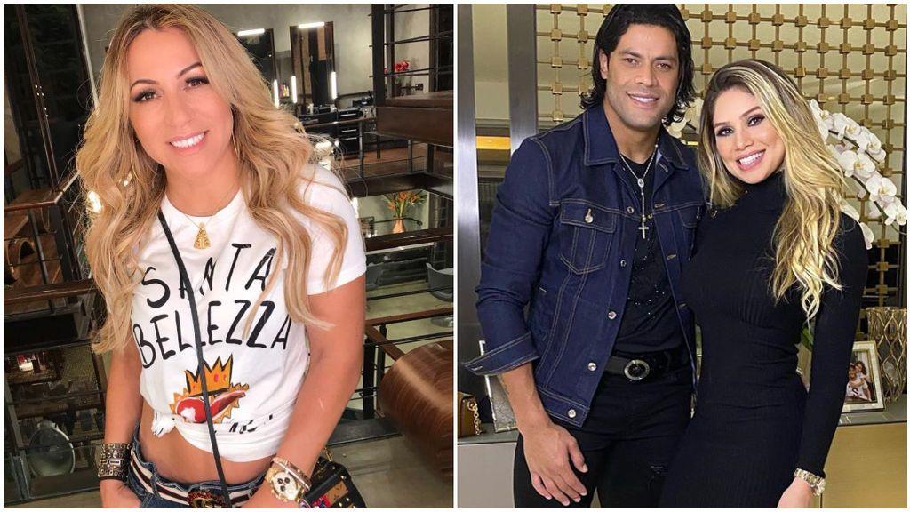 Iran Angelo, ex pareja de Hulk, y el futbolista con Camila Angelo.