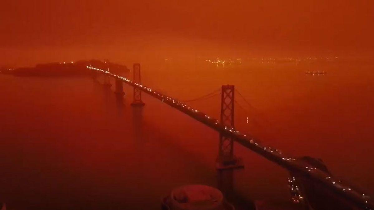 La apocalíptica y desoladora imagen de San Francisco entre incendios y con Blade Runner de fondo