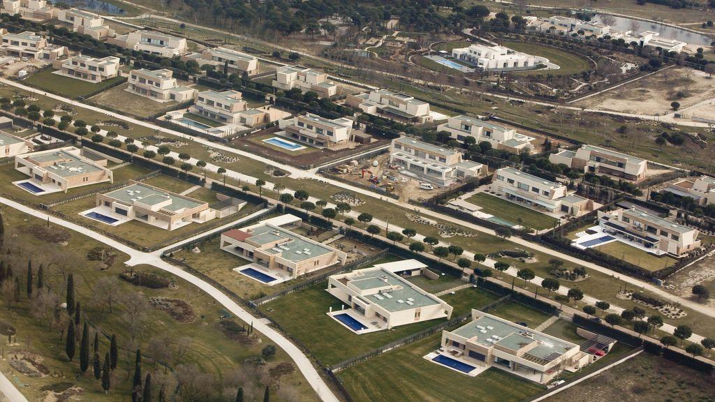 La urbanización de La Finca, vista desde el cielo