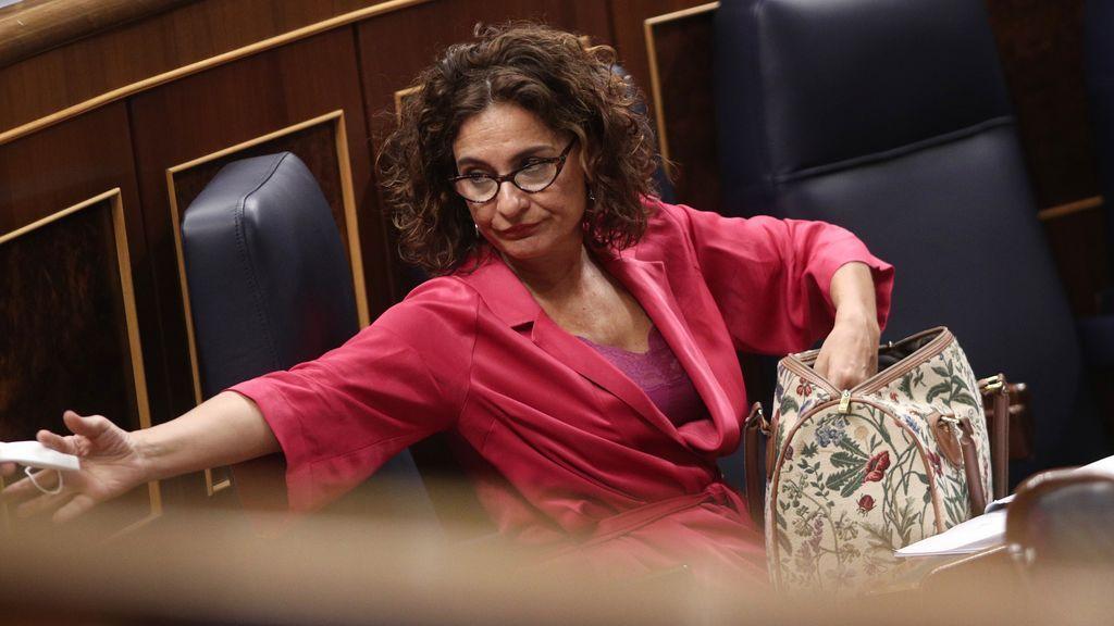 María Jesús Montero, ministra de Hacieda, en el Congreso
