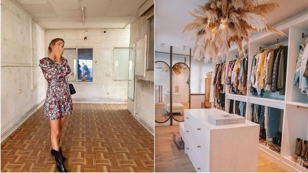 El 'antes y después' del vestidor de María Pombo