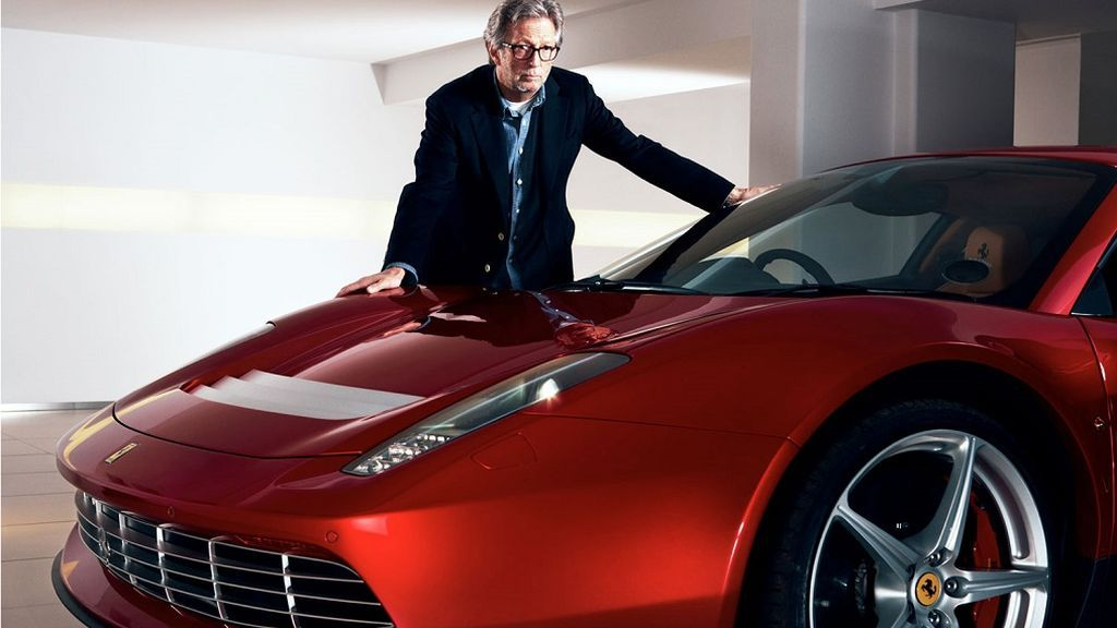 El garaje de Eric Clapton incluye 3 Ferrari que serían el sueño de cualquier coleccionista