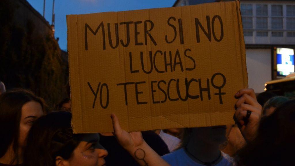 Cartel en la manifestación del 8-M