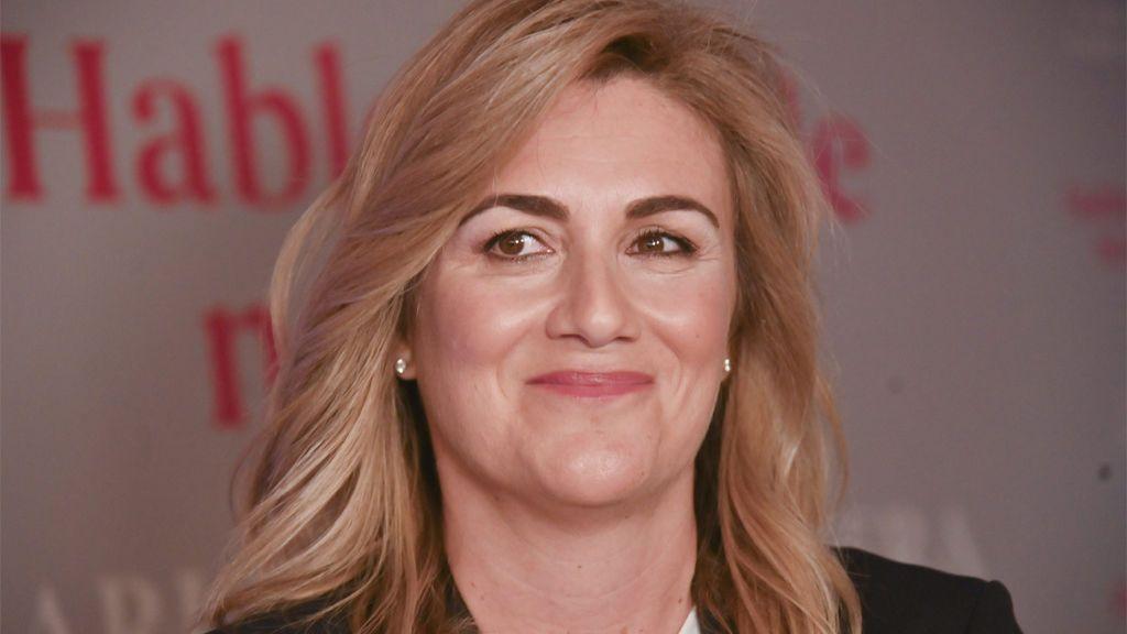 Carlota Corredera en un coloquio sobre mujeres (2020)