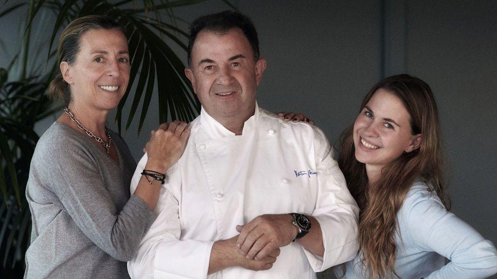 Martin Berasategui, con Oneka y Ane