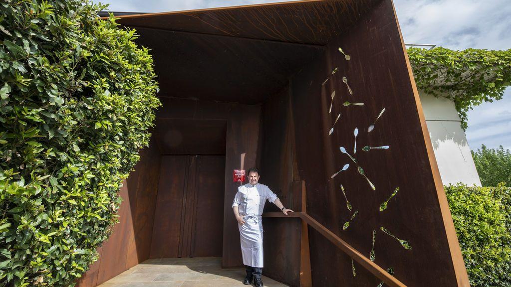 Berasategui, en la nueva entrada del restaurante