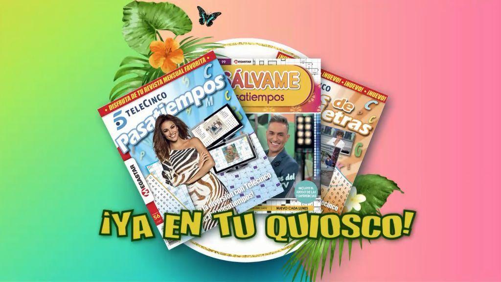 Revistas Pasatiempos Salvame, Pasatiempos Telecinco y Sopas de letras Telecinco