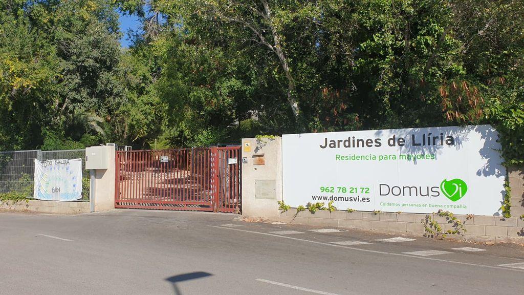 Residencia Jardines de Llíria, donde se grabaron las imágenes que difundió Informativos Telecinco este martes.