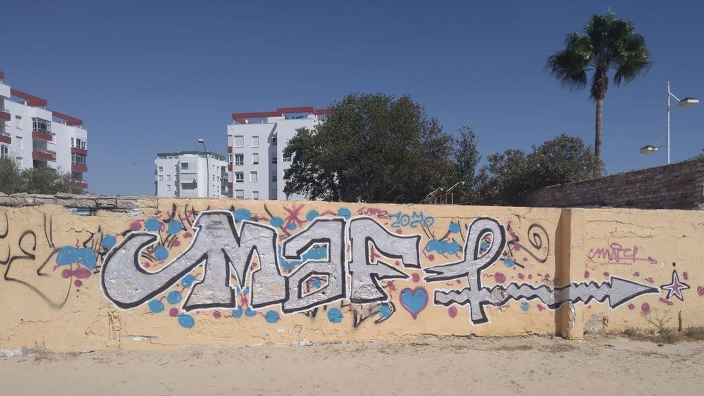Uno de los grafitis que guarda en su colección