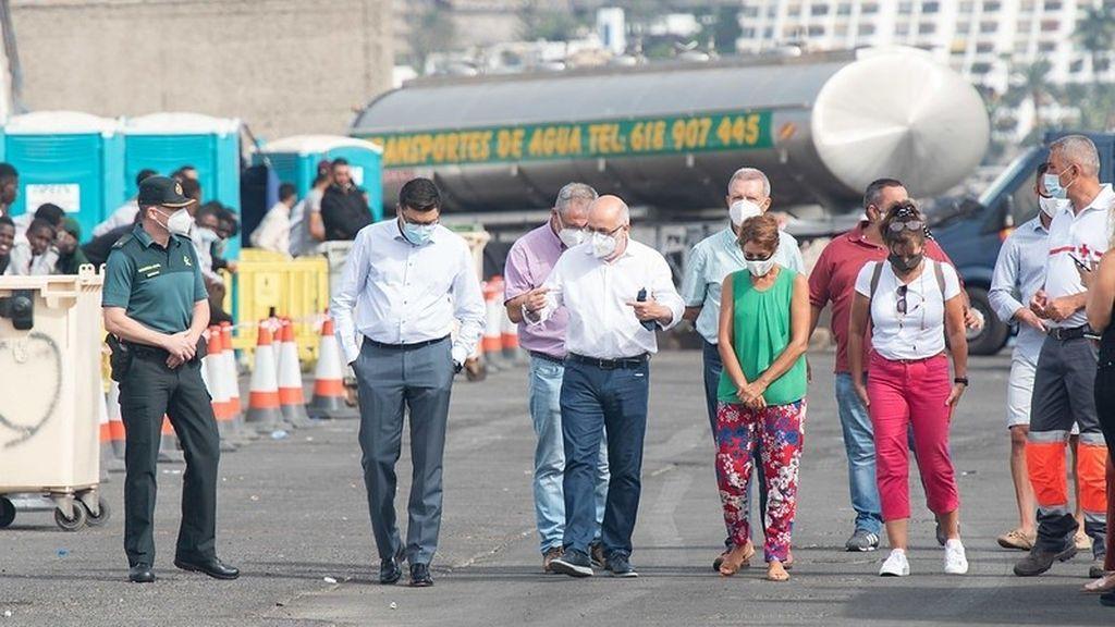 Gran Canaria reclama al Gobierno que facilite el traslado de los migrantes y no convertir la isla en una segunda Moria