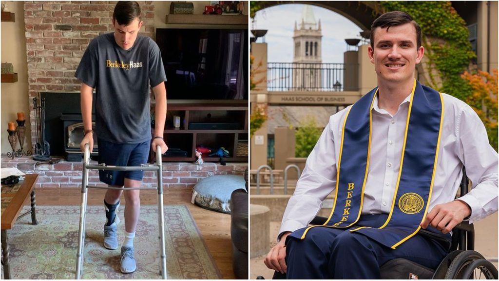 La historia de superación de Robert Paylor: se quedó tetrapléjico jugando al rugby y 3 años después consigue ponerse de pie