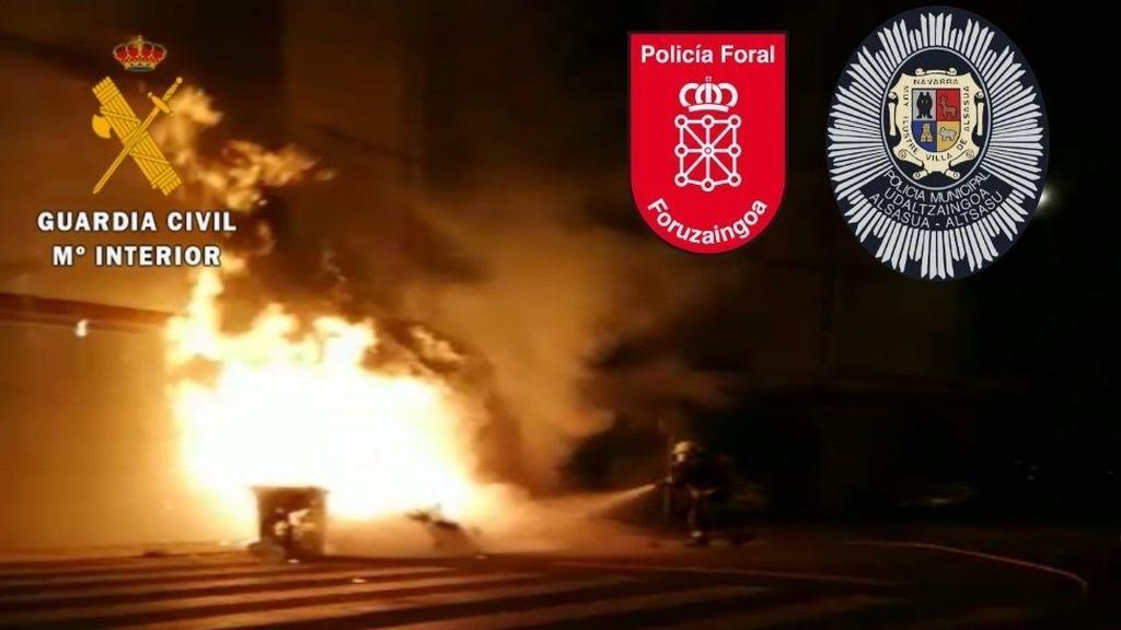 Lanzan objetos a la Guardia Civil y a la Policía cuando trataban de desalojar una fiesta ilegal en Alsasua