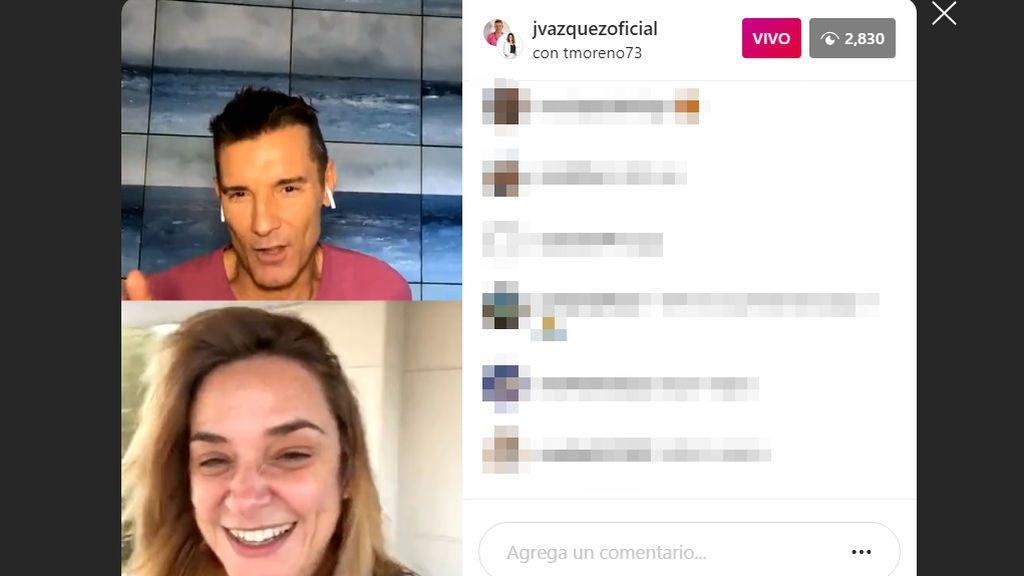 Toñi Moreno aconseja a Jesús Vázquez antes de 'MyH'