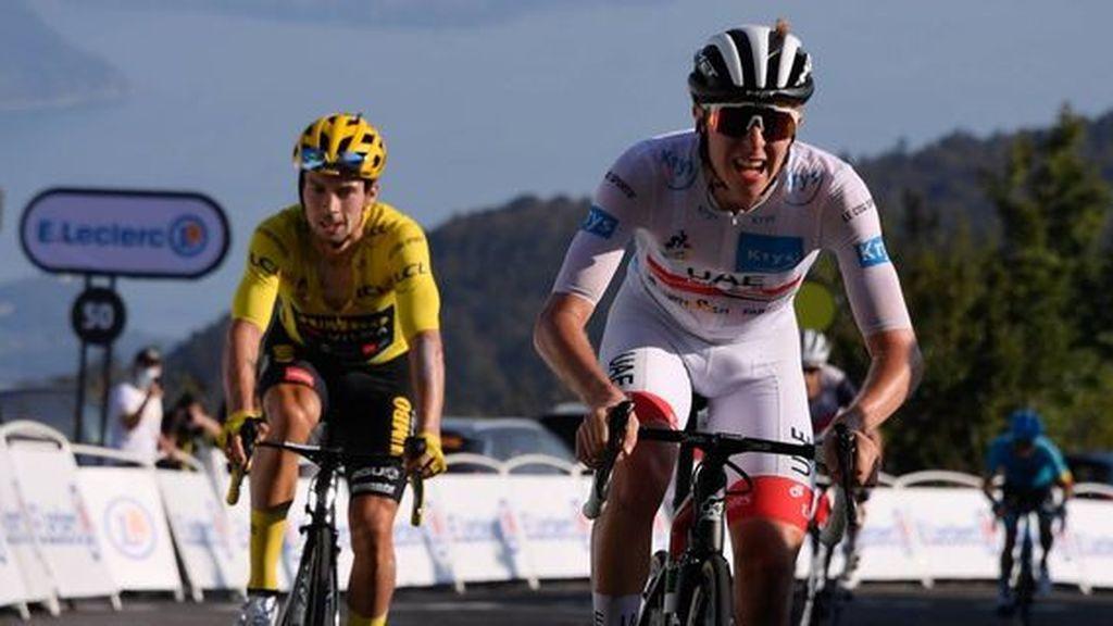 Roglic afianza el primer puesto en el Tour y Pogacar se lleva la la decimoquinta etapa