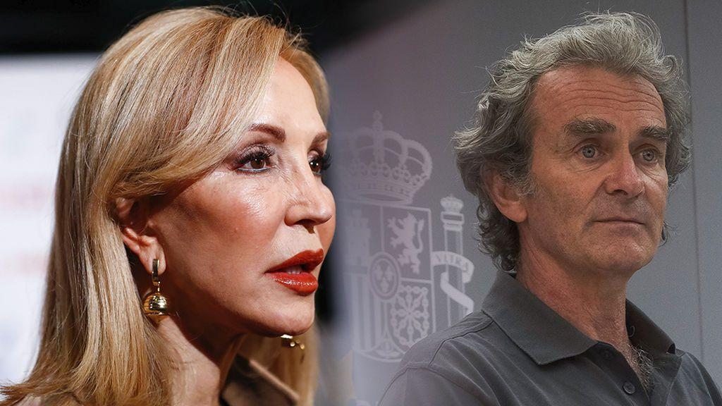 """Carmen Lomana, contra el aspecto de Fernando Simón: """"Lleva una chaqueta gris con pelotillas y debería ir aseado, es de Sanidad"""""""