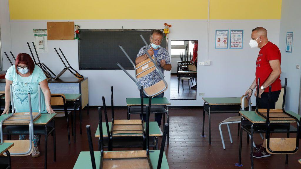 Italia prepara su vuelta al cole con mascarillas gratis para todos y test serológicos para los profesores
