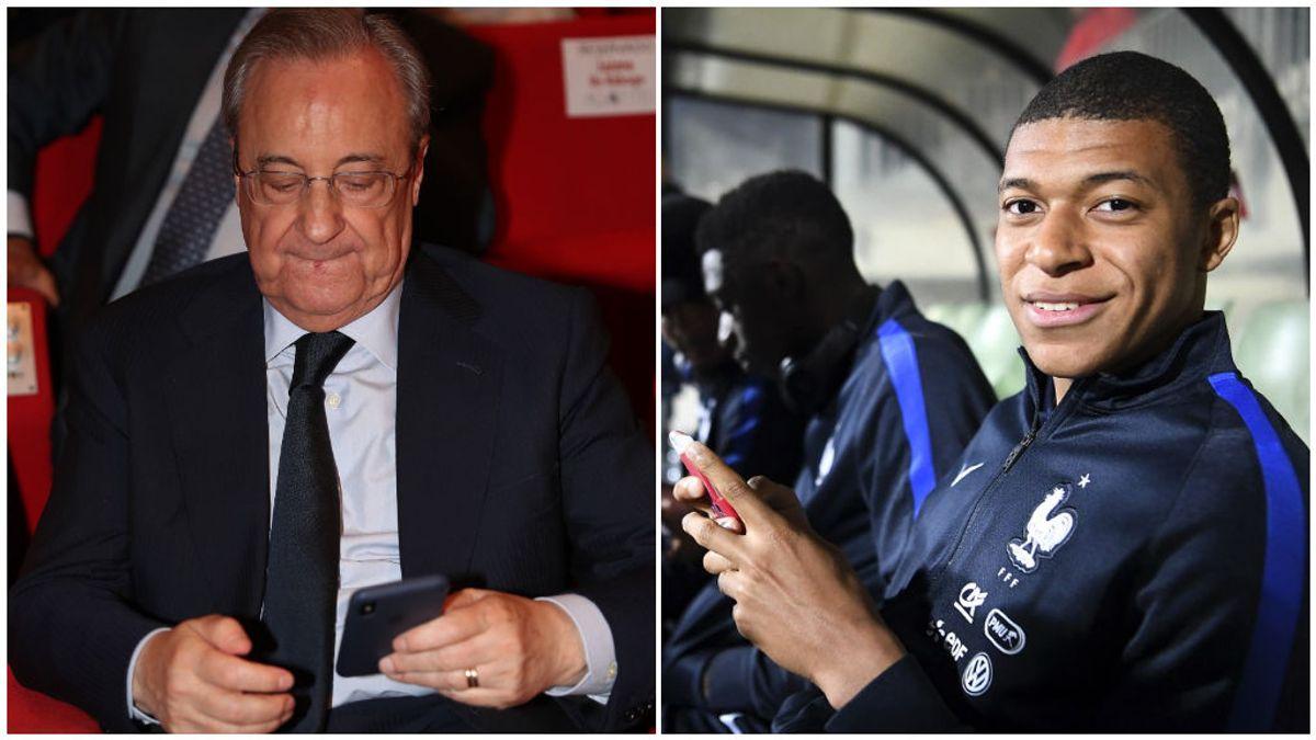 La llamada de Florentino a Al-Khelaïfi tras el paso clave de Mbappé para fichar por el Real Madrid
